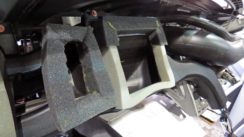 I removed the damaged part of the foam gasket and replaced it with some thick foam gasket material.