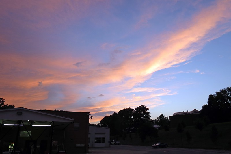 The colors were especially bright in the sky on this evening.