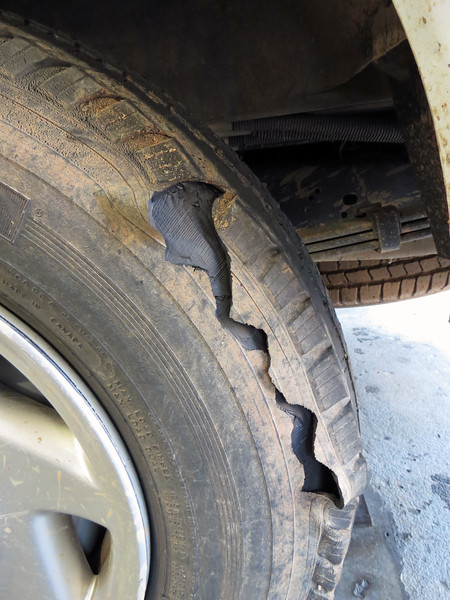 This condition is what is known as a tread separation.