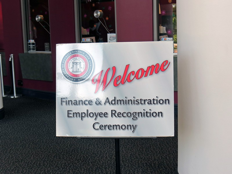 The 2016 Finance & Administration Employee Recognition Ceremony was held at Hodgson Hall at the UGA Performing Arts Center.