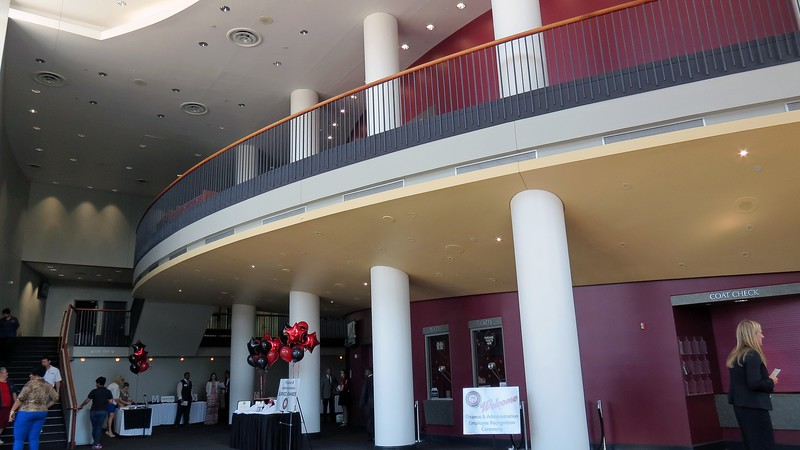 Interior of the Performing Arts Center.