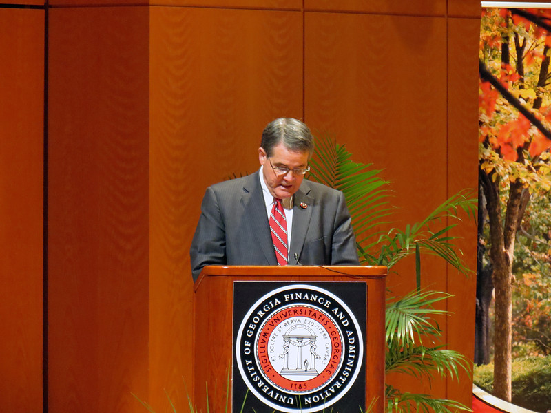 Opening remarks from Dr. Jere Morehead, President of UGA.