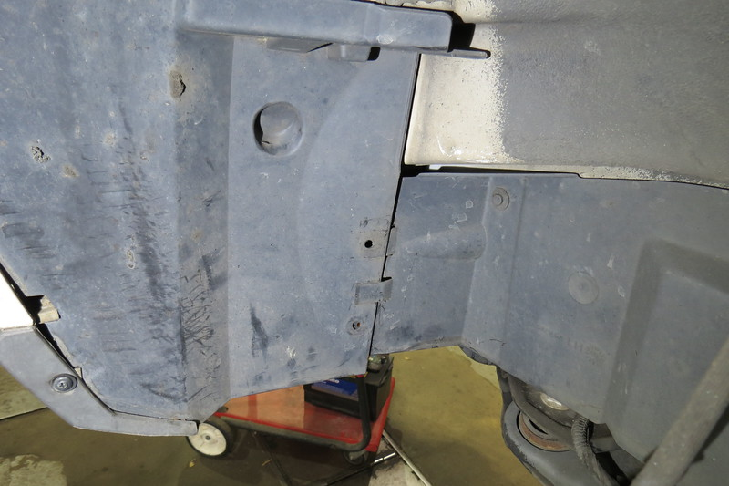 And finally, two fasteners are missing from the LF inner splash shield.