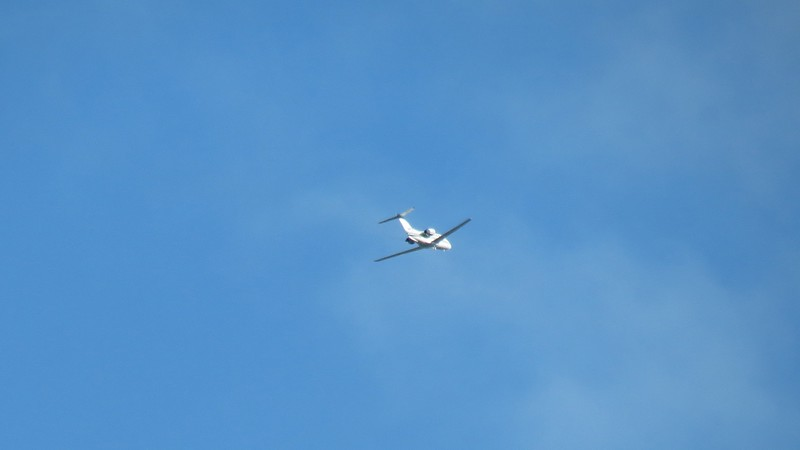 I tried to zoom in on a jet passing overhead and actually had a bit of success.