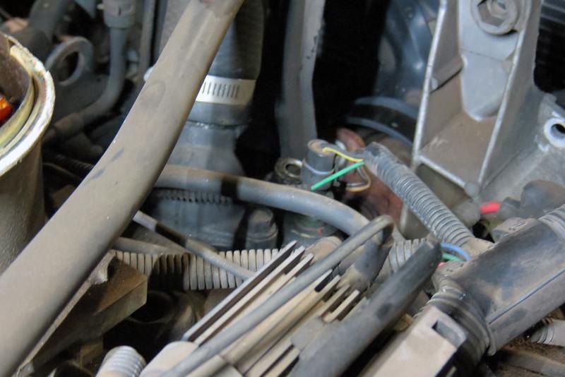 Engine coolant temperature sensor wiring.