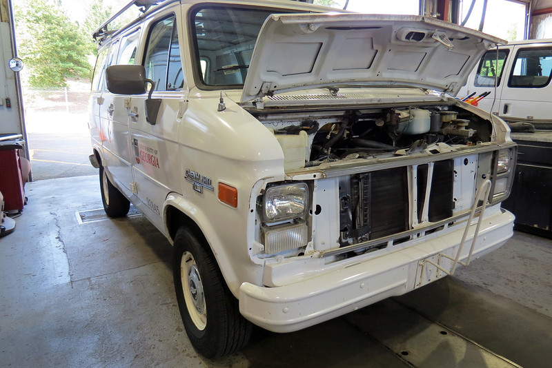 """A/C issues are a common repair in my shop.  On this day, this old Chevy van arrived with an """"a/c not cooling"""" concern."""