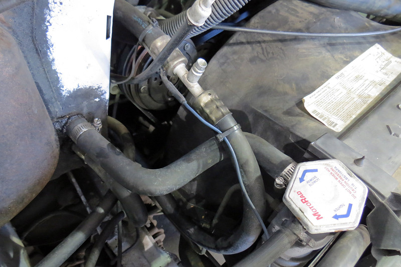 Since this is an aftermarket system, the old line had to be removed and taken to a local shop that makes new lines.