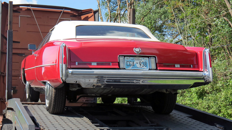 This is a 1974 Cadillac Eldorado convertible.