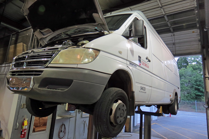 """Dodge Sprinter towed in from Chicopee for a crank, no start concern.  Wendel said he could """"hear air"""" once it was started."""