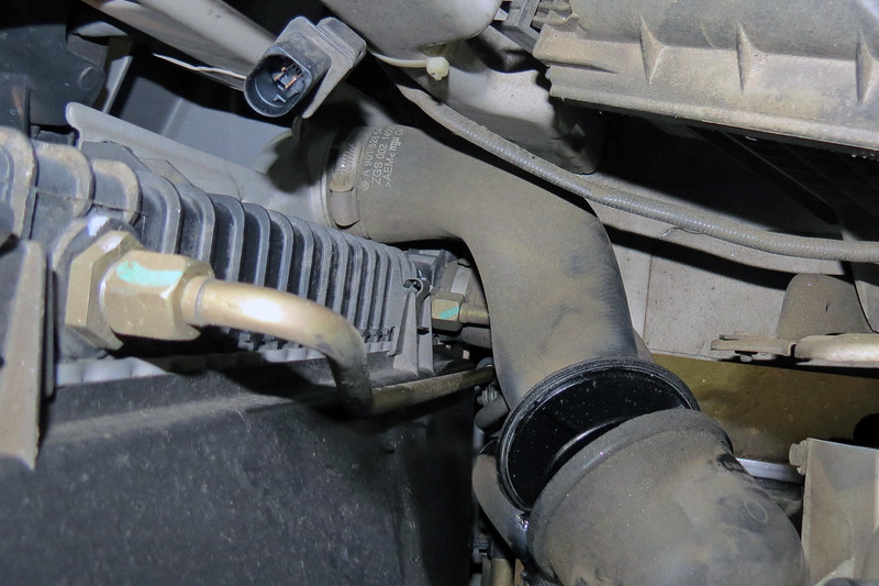 Connects the output side of the turbo to the inlet side of the intercooler.