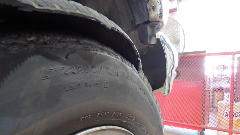 The other interesting aspect to this concern was that even though the tire peeled its tread, the tire still held air.