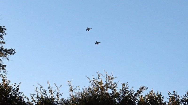 I believe they were in town for a flyover for the UGA/Notre Dame football game scheduled for tomorrow afternoon.