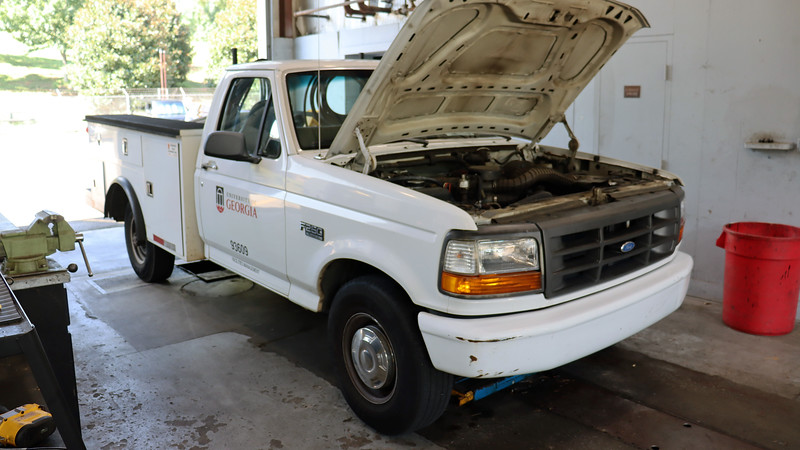 """Having a fleet of older vehicles means my shop sees a lot of concerns that arise simply out of age.  This 1996 Ford F250 arrived on this day for an a/c inop concern.  Service writer Wendel told me that the compressor was making a lot of noise.  <br /> <br /> The first step in ANY repair process is to verify the concern.  I started the truck and turned on the a/c in the parking lot.  As expected, the system blew warm air and made a bunch of noise.  With my concern verified, I made my way into the shop, turning the a/c switch to """"off"""" first.  That's when the fun began."""