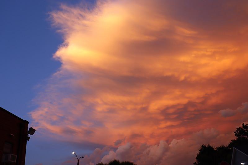 Beautiful colors overhead.