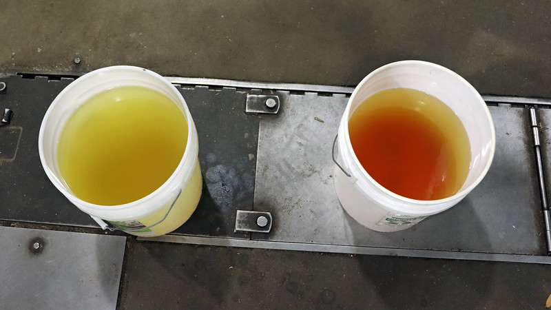The difference between the two buckets is quite clear.