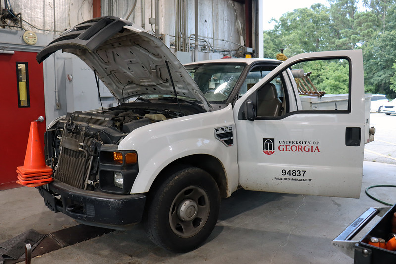 This 2008 Ford F350 arrived at the shop today for an HVAC and misfire concerns.
