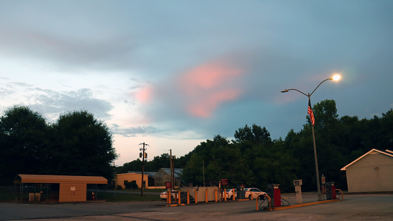 Turning the other direction, I spotted a cloud that was partially lit by the sunset.