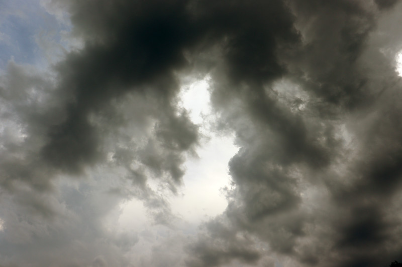 Even though the clouds were starting to get thick and dark, I could still see patches of blue sky peaking through.