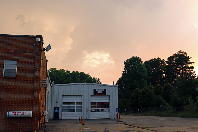 Great colors over the Automotive Center on campus.