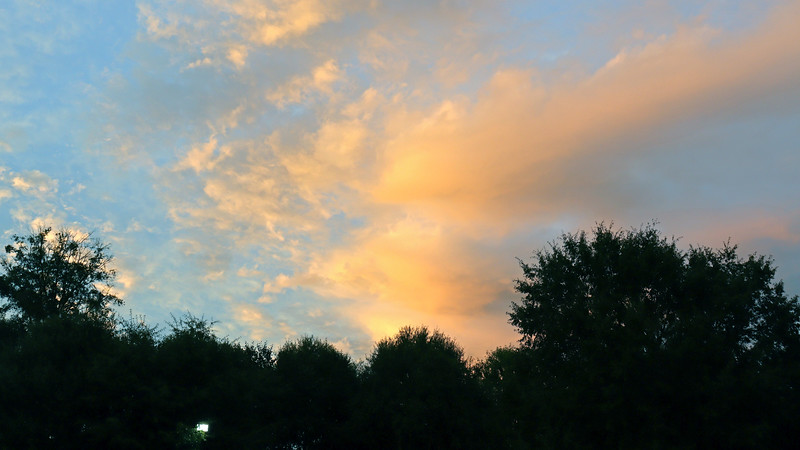 This allowed for some wonderful sunset colors to appear.