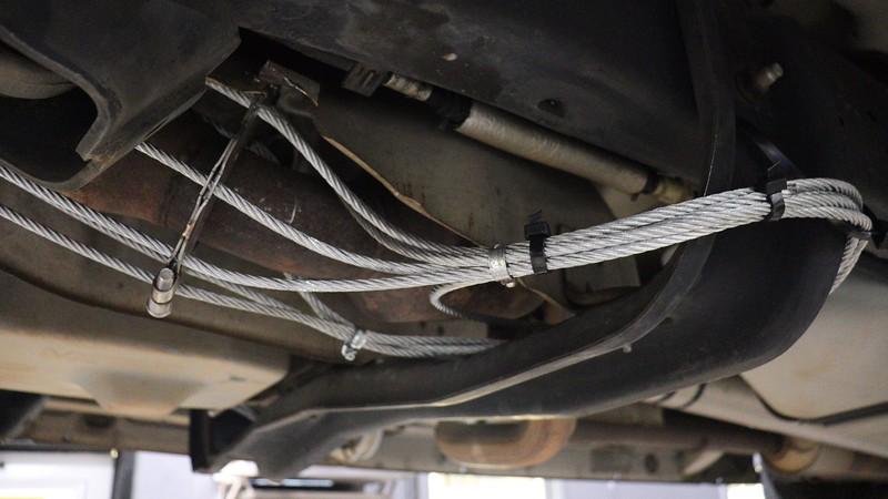 Zip-ties work fine where heat isn't a concern.
