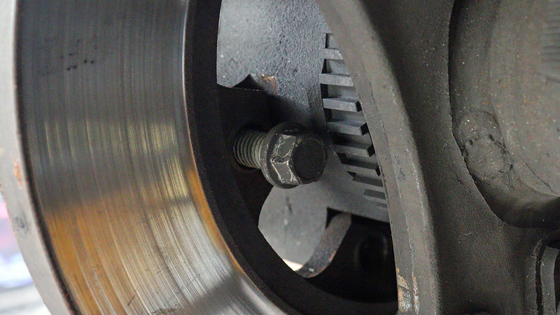 Six bolts hold the rotor to the hub.