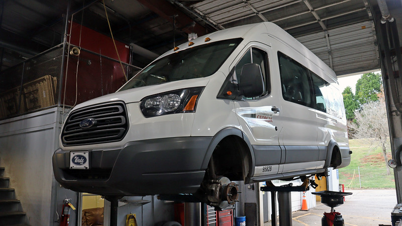 Today's project involved replacing the rear brake pads and rotors on a 2018 Ford Transit 350 HD.