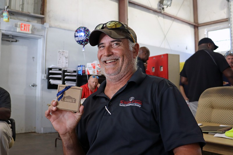 Johnny was the winner, and got a gift card from Lowe's for his efforts.