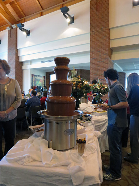 I believe there were two chocolate fountains available today.