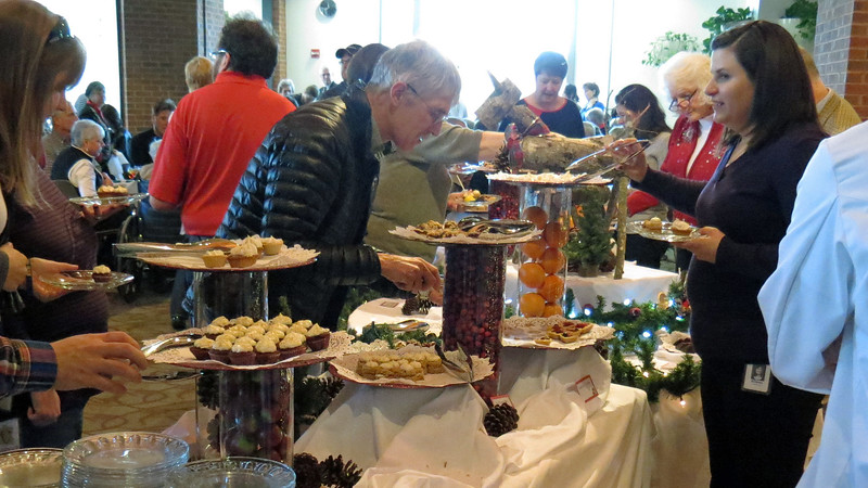 Dessert is always a favorite.  So both of the dessert tables were fairly crowded most of the time.