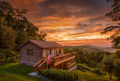 My cabin in the Blue Ridge Mountains