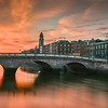 Sunset on the River Liffey, Dublin, Ireland