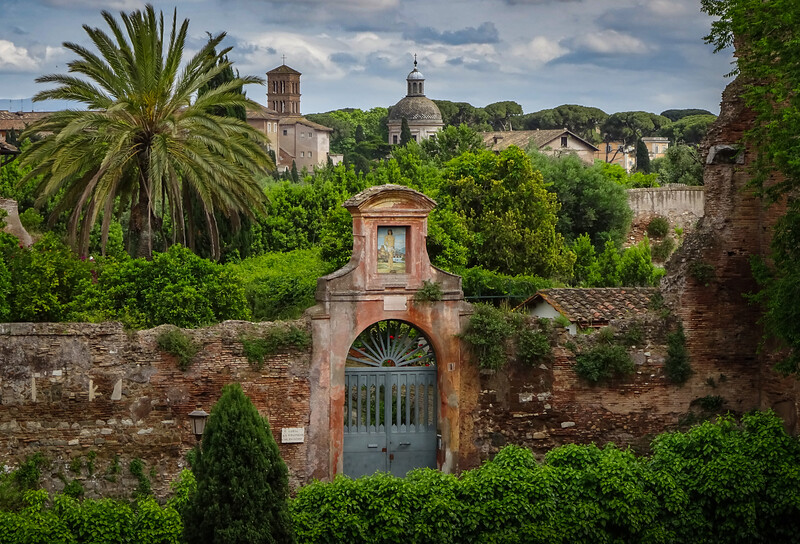 One of many gates to the Ancient City, Rome, Italy.