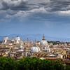 The Rome skyline, Rome, Italy.