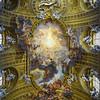 The Via Del Plebiscito Ceiling, Frosinone, Lazio, Rome, Italy.