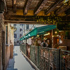 Outside Trattoria da Nino Restaurant, Venice, Italy.