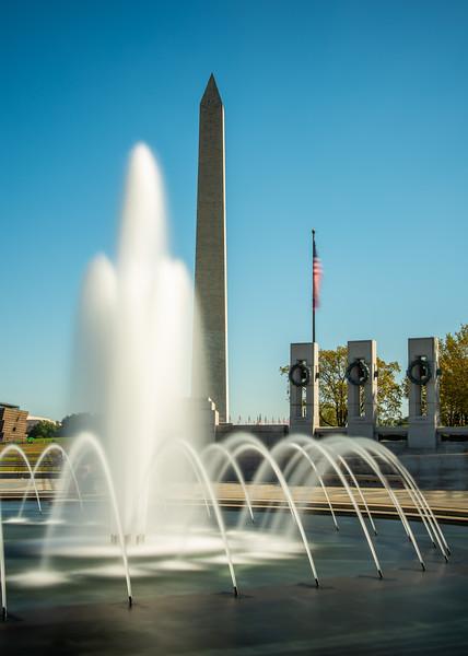World War II Memorial and Washington Monument, Washington, D. C.