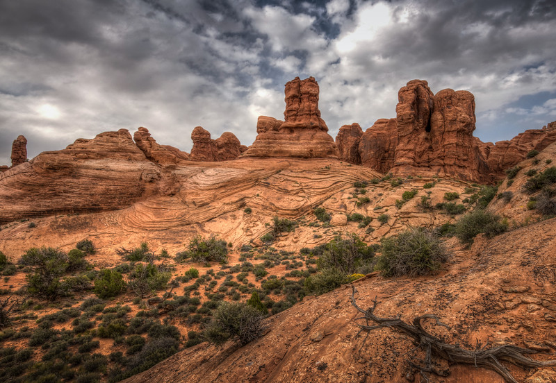 Scene from around Double Arch,Arches National Park, Utah