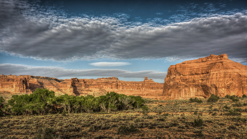 The Great Wall, Arches National Park, Utah