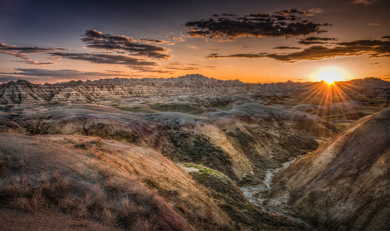Sunset in Badlands National Park, South Dakota