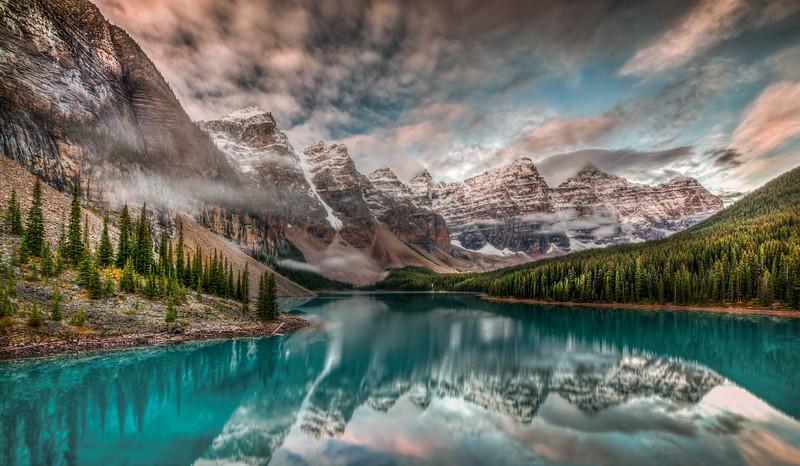 Sunrise at Moraine Lake, Banff National Park, Canada