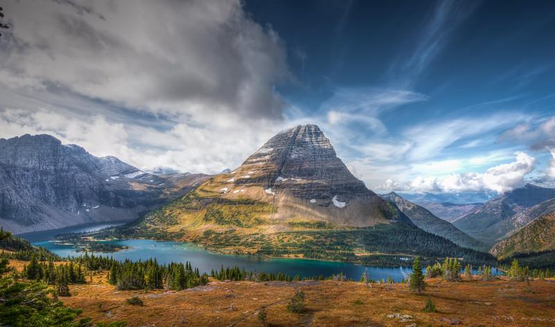 Bear Hat Mountain, Glacier National Park, Montana.