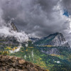 Clouds breaking across Glacier National Park, Montana.