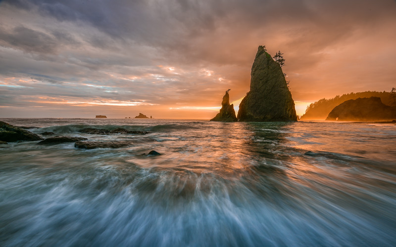 Sunset on Rialto Beach, Olympic National Park