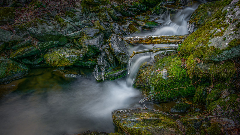 Winter Fall in Shenandoah National Park, Virginia