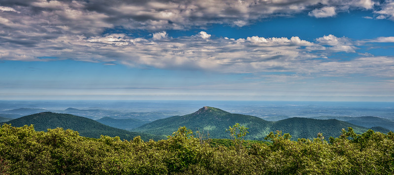 Summer Scene over Old Rag Mountain, Shenandoah National Park