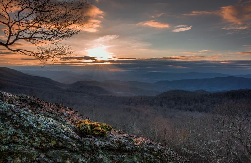 Susnet in Shenandoah National Park, Virginia