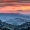 Sunset over Shenandoah National Park, Virginia