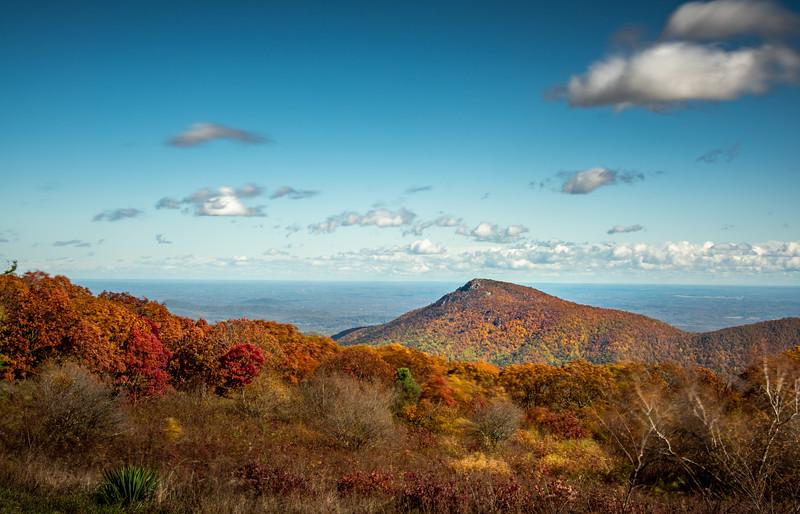Autumn Scene of Old Rag Mountain, Shenandoah National Park, Virginia