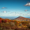 Autumn Scene of Old Rag Mountain, Shenandoah National Park, Virginia